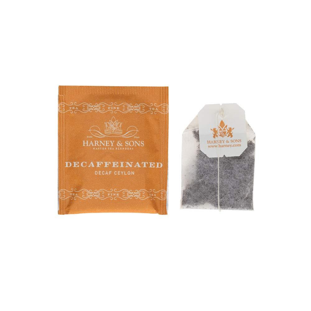 Harney & Sons Black Tea, Decaffeinated, 50 Tea Bags