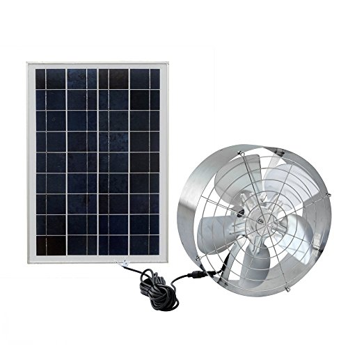 Fisters Solar Power Attic Fan,Solar Gable Fan with 65W 18V Efficient DC Fan and 25W 18V Solar Panel,for Ventilate Your House and Protect Against Moisture Build-up