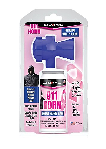 Max-Pro 911 Horn Personal Safety Alarm 1.5oz Travel Size