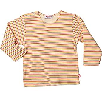 Zutano Sunset Mini Stripe Organic Cotton Long Sleeve T-shirt (12-18 months)