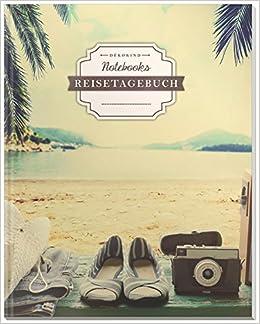 Motiv: Tropisch Perfekt als Abschiedsgeschenk 100+ Seiten DIN A4 DÉKOKIND Reisenotizbuch zum Selberschreiben Vintage Softcover Register