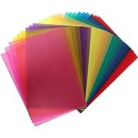 POKIENE Filtro de Gel de Color de 24 Piezas, Filtro de Gelatina de Plástico, Filtro Transparente de Corrección de 8…