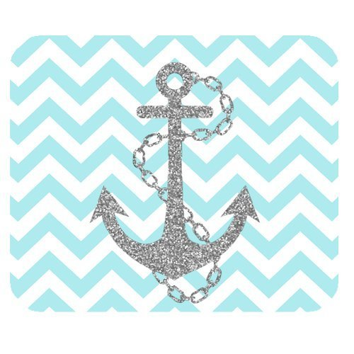 light-blue-chevron-zigzags-gray-anchor-pattern-personalized-custom-mouse-pad