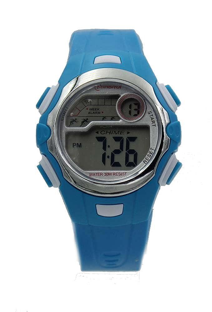 子供のスポーツデジタル腕時計、ブルー   B00MH6ZHFI
