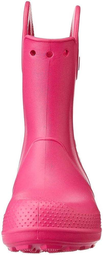 Stivali di Gomma Unisex Crocs Handle It Rain Boot K 29//30 EU Rosa Candy Pink Bambini