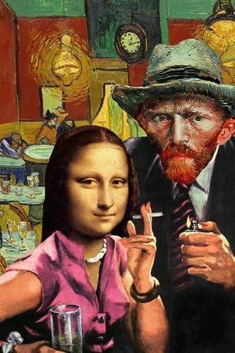 Ladies Night (Van Gogh y Mona Lisa) por Barry cometa Póster ...