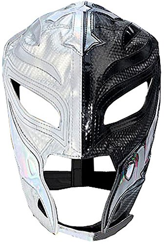 Wwe Rey Mysterio Child Costumes (Official Rey Mysterio Kids YOUTH Replica Half Mask Silver & Black)