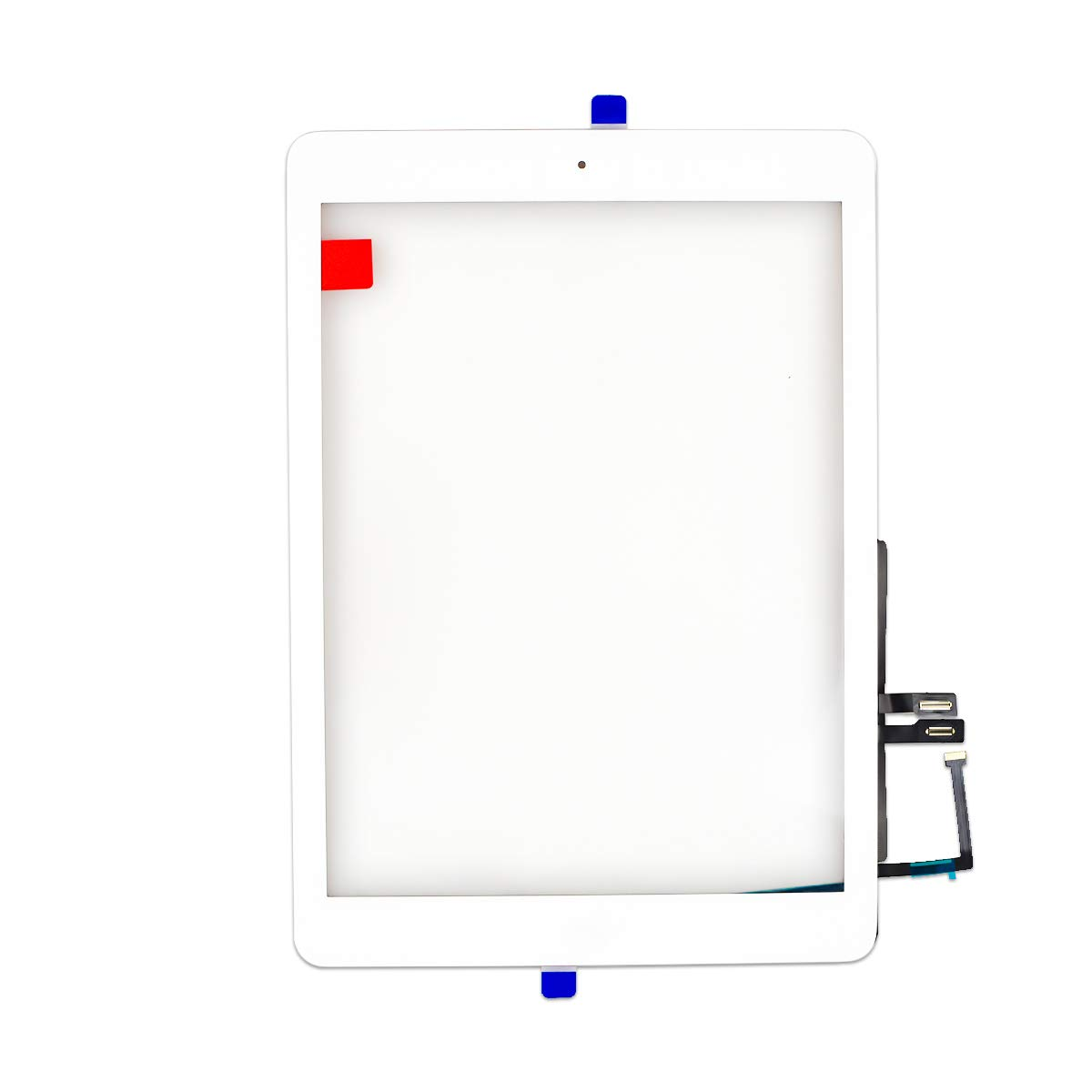 Aiiworld Touch Screen Digitizer Replacement with Home Button Adhesive for iPad 9.7 2018 iPad 6 6th A1893 A1954 (White)