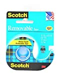 Scotch Removable Tape, Sticks Securely, Removes Cleanly, Engineered for Displaying, Standard Width, 3/4 x 650 Inches (224)