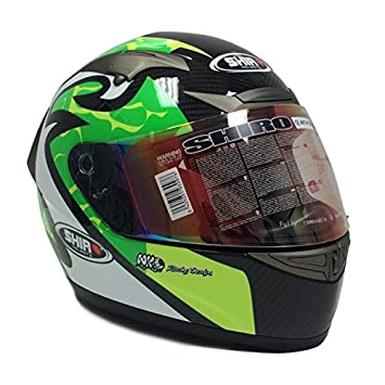 Premium Shiro de fibra de carbono adulto full face casco réplica de MotoGP Dot/CEPE