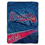 MLB Atlanta Braves Speed Plush Raschel Throw Blanket, 60x80-Inch