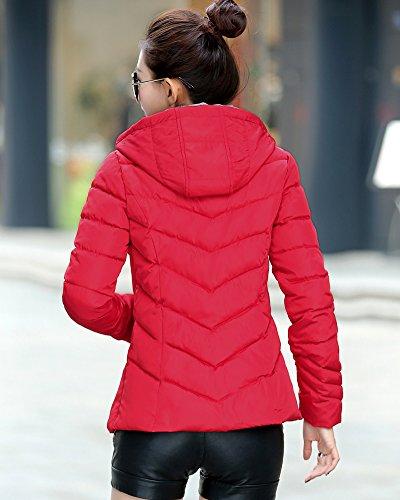 Veste Longues Femme Rouge Capuche paissir lgant Manches SaiDeng Parka xZ0qzwWHw