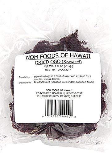 NOH Foods of Hawaii Dried Hawaiian Ogo Seawood For Poke, 1 ()