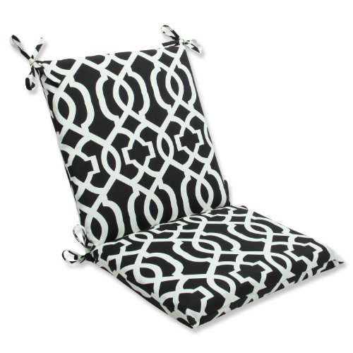 Pillow Perfect Outdoor New Geo Squared Corners Chair Cushion, - Patio Furniture Wrought Iron Cushions