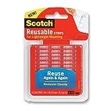 Scotch Restickable Strips, 1-inch X 3-inch, Clear, 6-Strips (R101)
