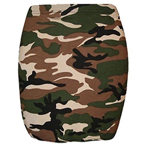 Mujer Militar Animal Impreso Mujer Elástico Vestido Ceñido Mini Corto Falda De Tubo 8-14 Estampado Militar - Estampado Camuflaje Verano