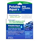 Potable Aqua Chlorine Dioxide Water Purification Tablets - Portable Drinking Water Treatment Camping, Emergency Preparedness, Hurricanes, Storms, Survival Travel