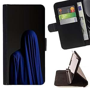 """For LG G4 Stylus / G Stylo / LS770 H635 H630D H631 MS631 H635 H540 H630D H542 ,S-type Moda Religión musulmana Burka azul"""" - Dibujo PU billetera de cuero Funda Case Caso de la piel de la bolsa protectora"""