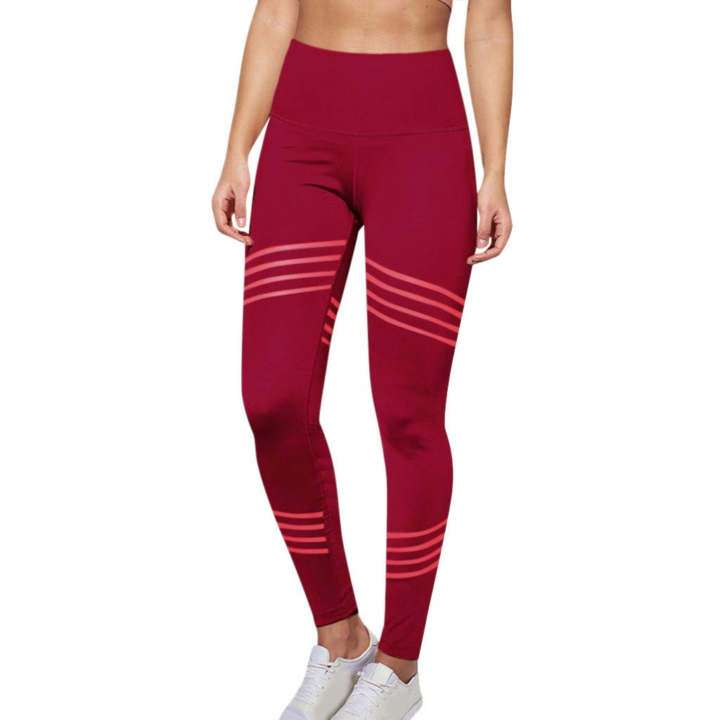 YCQUE Damen Sporthose, Damenmode Casual Einfarbig Einfache Twill-Hüfte Übung Fitness Laufen Yogahosen Lange Laufhose Skinny Leggings, Fitness Sport Laufen Yoga Athletic Pants Sport Leggings