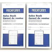 Carbonless Sales Invoice Book - 2 pack - Carbonless