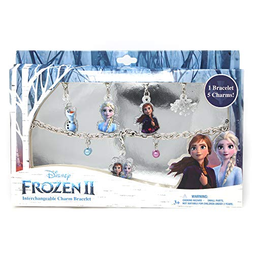Luv Her Frozen 2 Girls Add-A-Charm Toy Bracelet and Costume Jewelry Box Set with 1 Bracelet and 5 Charms