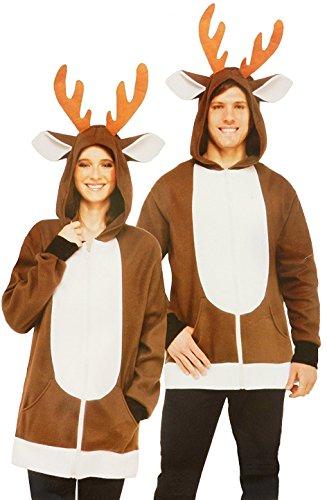 North Pole Reindeer Hoodie Piece