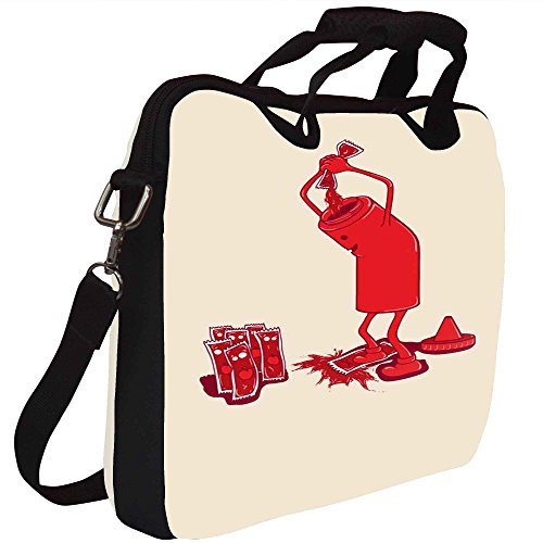 Snoogg Ketchup 2875 Gedruckt Notebook-Tasche mit Schultergurt 15 bis 15,6 Zoll
