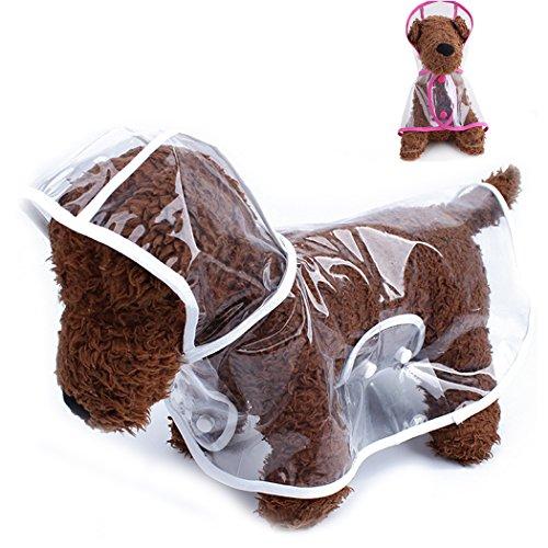 Asunflower Raincoats for Puppy Waterproof Transparent Pet...