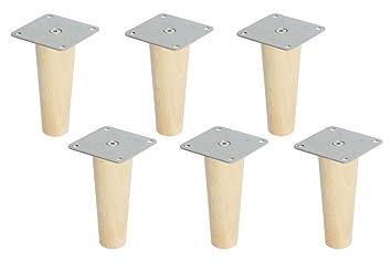 Möbelbeine Ikea 6 x ikea kallax regal füße möbelfüße konisch höhe 16 cm möbelbeine
