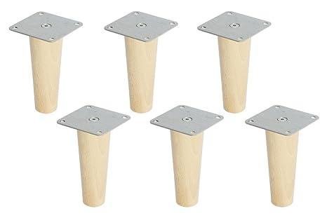 Ikea Füße Holz.New Swedish Design 6 X Ikea Kallax Regal Fuesse Moebelfuesse Konisch Hoehe 16 Cm Buche