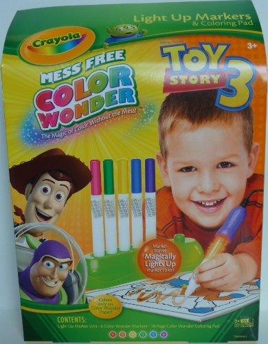 Crayola, Toy Story 3 Color Wonder Magic Light up Markers & Coloring Pad