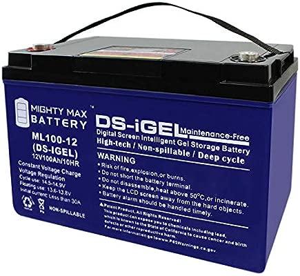 12 V 100 Ah batería de Gel equivalente a la quingo Toura Scooter ...