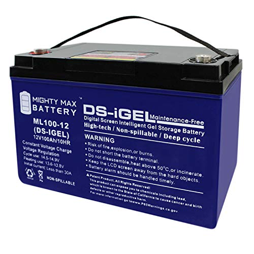 - Mighty Max Battery 12V 100AH Gel Battery Replaces Solar Wind Deep Cycle VRLA 12V 24V 48V Brand Product
