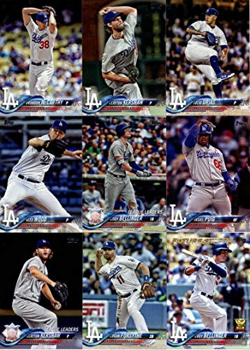 - Los Angeles Dodgers 2018 Topps Complete Mint Hand Collated 32 Card Team Set with Clayton Kershaw, Cody Bellinger and a Walker Buehler Rookie Card plus