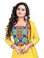 Dheylu Creation Women's Cotton Dress Material (Patiyala yellow_Free Size_Yellow)