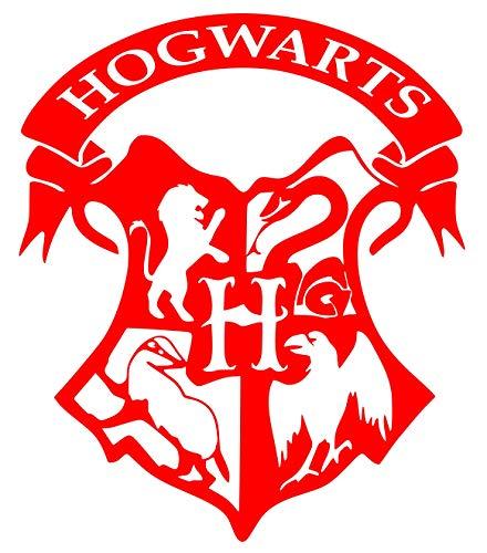 UR Impressions Red Hogwarts Crest Gryffindor Decal Vinyl Sticker Graphics for Car Truck SUV Van Wall Window Laptop|RED|6.6 X 5.5 Inch|URI135-R