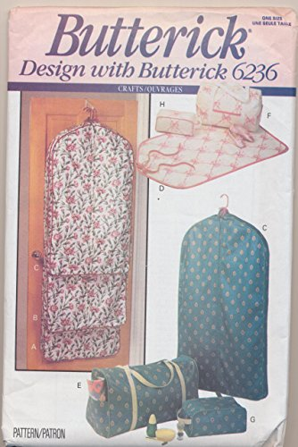 Butterick 6236 Sewing Pattern Crafts Garment Bag and Totes