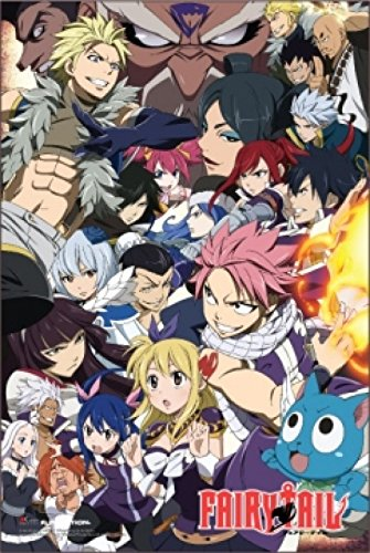 1 X Fairy Tail Anime Poster Print (24 X 36)