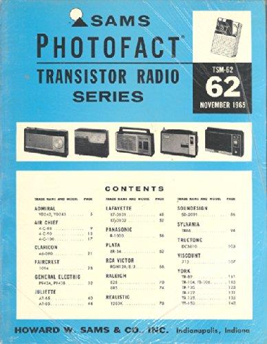 Still Sealed Sams Photofact, November 1965, TSM-62 Transistor Radio Series (Antique Transistor Radios)