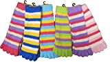 Urban Boundaries® Fuzzy Toe Socks 12-Pack (Fits Ages 13+)(Assorted Colors)