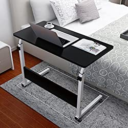 Iusun Laptop Desk, Liftable And Collapsible Computer Desk for Home Household Office, 80cmx50cm, Ship From USA (Black)