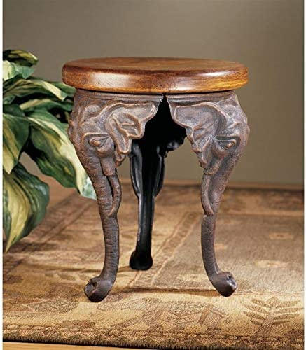 Design Toscano Three Elephants of Timbe Sculptural End Table