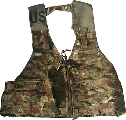 Fire Force MOLLE II Fighting Load Carrier Load Bearing Vest (FLC) Made in USA (Multi Cam)