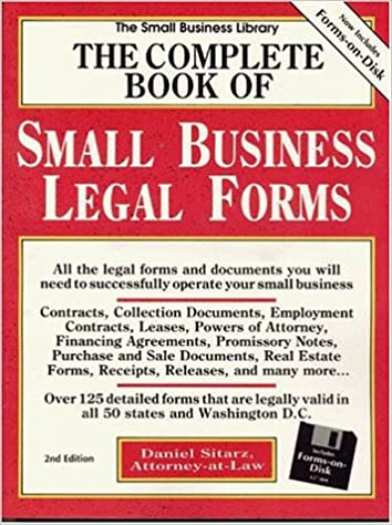 The Complete Book Of Small Business Legal Forms IBM With Book - Help with legal forms