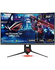 "Asus 90Lm03S0-B02170 Rog Strix Xg32Vqr Curved Hdr Gaming Monitor, 32"" Wqhd (2560X1440), 144Hz, Freesync Premium Pro, Displayhdr 400, Dci-P3 94%, Shadow Boost"