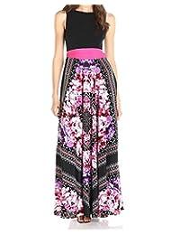 Roiii Vintage Women Summer Boho Floral Long Casual Party Plus Size Maxi Dress