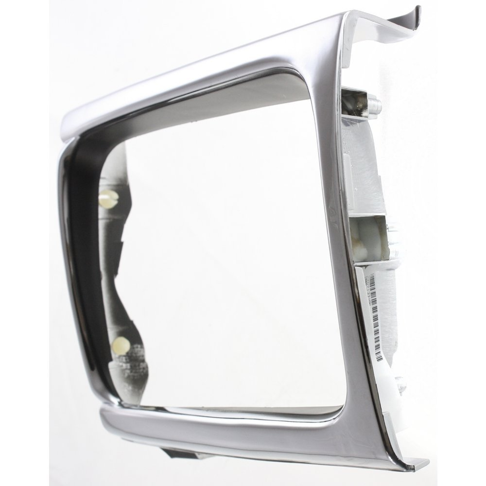 Headlight Door Compatible with Toyota Pickup 92-95 Left Side 4WD Chrome//Black