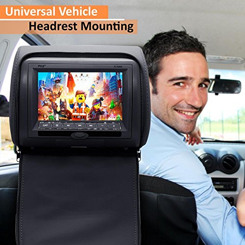 Pyle 2017 Upgraded HD Quality Car Headrest DVD Player Monitor Display 7 inch Widescreen, Remote Control , USB / SD Reader, FM IR Transmitter for Car Mini Van Travel Entertainment  - PL74DBK (BLACK) by Pyle (Image #6)