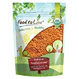 Organic Red Split Lentils by Food to Live (Dry Beans, Non-GMO, Kosher, Raw, Masoor Dal, Bulk) — 3 pounds
