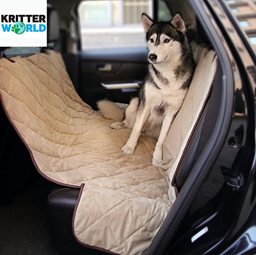 Medium image of kritterworld   pet seat cover auto back rear seat barrier waterproof dog hammock car seat cover with protector pad antislip for rear suv trucks cars with